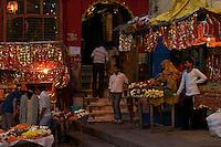 Shops at the River Ganges Varanasi India