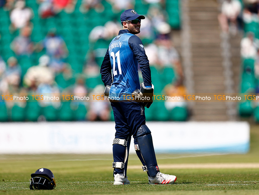 Ollie Robinson of Kent looks on during Kent Spitfires vs Durham, Royal London One-Day Cup Cricket at The Spitfire Ground on 22nd July 2021