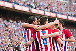 Diego Roberto Godin Leal of Atletico de Madrid celebrates with teammates during their La Liga match between Atletico de Madrid and Sevilla FC at the Estadio Vicente Calderon on 19 March 2017 in Madrid, Spain. Photo by Diego Gonzalez Souto / Power Sport Images
