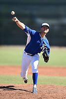 Kansas City Royals pitcher Evan Beal (58) during an Instructional League game against the Cincinnati Reds on October 16, 2014 at Goodyear Training Facility in Goodyear, Arizona.  (Mike Janes/Four Seam Images)