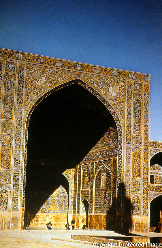 Islamic Architecture;  Isfahan. The Masjid-i Shah (1611-16).  Erected by Shah Abbas the Great.