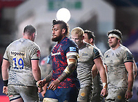 5th February 2021; Ashton Gate Stadium, Bristol, England; Premiership Rugby Union, Bristol Bears versus Sale Sharks; Nathan Hughes of Bristol Bears disappointed after the match