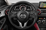Car pictures of steering wheel view of a 2015 Mazda CX-3 Pure Edition 5 Door Suv Steering Wheel