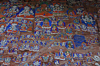 Yaowang Mountain near Lhasa the site  for the thousand images of Buddha, this is an important site for pilgrims from all over Tibet