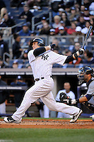 Apr 02, 2011; Bronx, NY, USA; New York Yankees catcher Russell Martin (55) during game against the Detroit Tigers at Yankee Stadium. Yankees defeated the Tigers 10-6. Mandatory Credit: Tomasso De Rosa
