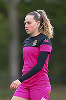 Renate Ly Mehevets (15) of Charleroi  pictured during a female soccer game between Sporting Charleroi and White Star Woluwe on the 7 th matchday in play off 2 of the 2020 - 2021 season of Belgian Scooore Womens Super League , friday 14 th of May 2021  in Marcinelle , Belgium . PHOTO SPORTPIX.BE | SPP | Sevil Oktem