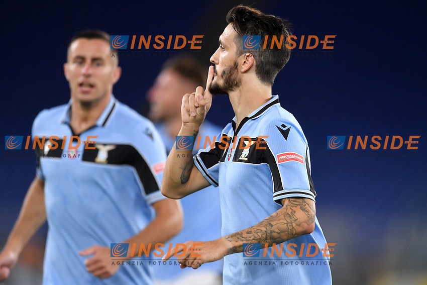 Luis Alberto of SS Lazio celebrates after scoring the goal of 2-1 during the Serie A football match between SS Lazio and ACF Fiorentina at stadio Olimpico in Roma ( Italy ), June 27th, 2020. Play resumes behind closed doors following the outbreak of the coronavirus disease. Photo Antonietta Baldassarre / Insidefoto