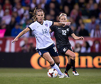 Lauren Holiday, Betsy Hassett. The USWNT tied New Zealand, 1-1, at an international friendly at Crew Stadium in Columbus, OH.