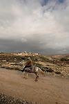 "Judea, Gush Etzion. The ""Path of the Patriarchs"", kibbutz Rosh Tzurim is in the background"