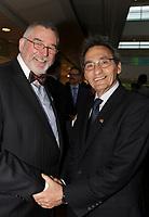 Thierry Arnaud,  President de la Chambre LGBT du Quebec et Richard Bergeron au<br /> <br /> 13 ieme Gala Phenicia , 25 mai 2017