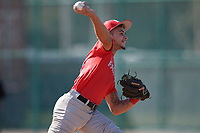 Anderson Matos (61), from Pembroke Pines, Florida, while playing for the Cardinals during the Baseball Factory Pirate City Christmas Camp & Tournament on December 28, 2017 at Pirate City in Bradenton, Florida.  (Mike Janes/Four Seam Images)