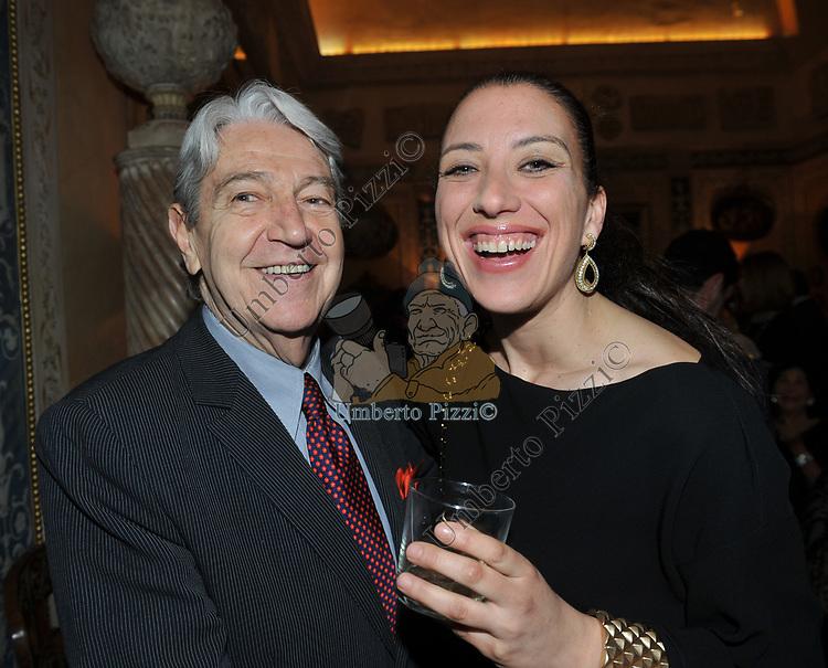 MASSIMO TEODORI CON SHULAMIT ORVIETO OREN<br /> FESTA DEGLI 80 ANNI DI MARTA MARZOTTO<br /> CASA CARRARO ROMA 2011