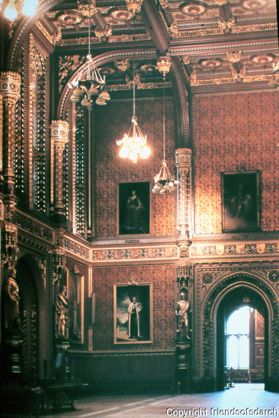 Augustus Welby Northmore Pugin was an English architect, designer, artist, and critic designed the Royal Gallery in the House of Lords, completed in 1847. Palace of Westminster, London.
