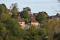 Europe/France/Aquitaine/24/Dordogne/Limeuil: L'église et les  maisons du village