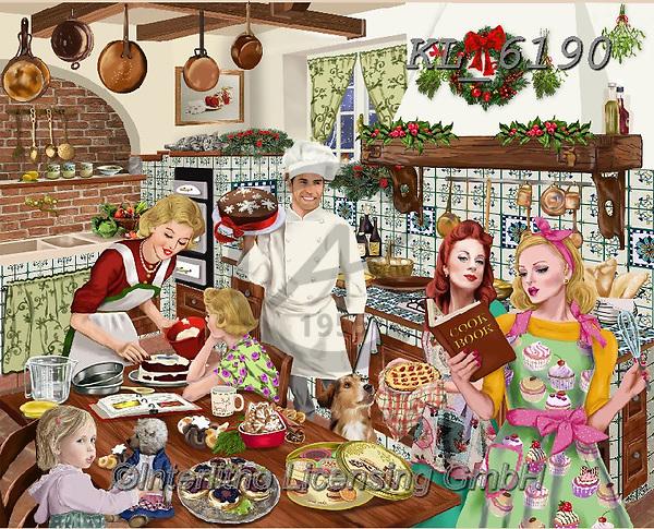 Interlitho-Franco, CHRISTMAS LANDSCAPES, WEIHNACHTEN WINTERLANDSCHAFTEN, NAVIDAD PAISAJES DE INVIERNO, paintings+++++,bakery scene,KL6190,#xl#