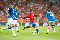 Spain's Fernando Alarcon 'Isco' and Italy's Daniele De Rossi and Andrea Barzagli during match between Spain and Italy to clasification to World Cup 2018 at Santiago Bernabeu Stadium in Madrid, Spain September 02, 2017. (ALTERPHOTOS/Borja B.Hojas)