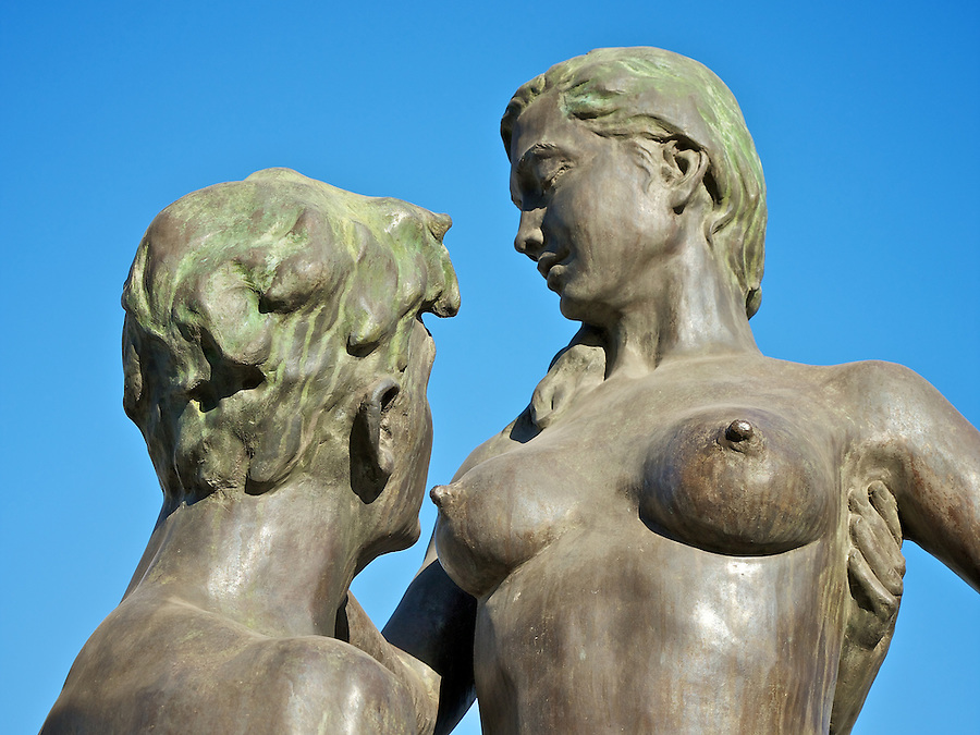 One Of A Series Of Raunchy Statues On The Former French Bund, Tianjin.