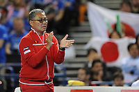 Minora Ueda, Japan Coach, MARCH 06, 2016 - Tennis : Minora Ueda, Japan Coach during the Davis Cup by PNB Paribas , World Group first round fourth rubber between Great Britain and Japan at The Barclaycard Arena, Birmingham, United Kingdom. (Photo by Rob Munro/AFLO)