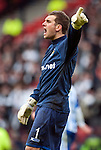 GLASGOW, SCOTLAND - JANUARY 28:  Kilmarnock goalie Cameron Bell during the Scottish Communities Cup Semi Final match between Ayr United and Kilmarnock at Hampden Park on January 28, 2012 in Glasgow, United Kingdom. (Photo by Rob Casey/Getty Images).