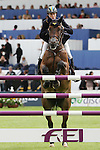 Equestrian - Showjumping - Meydan FEI Nations Cup.Alexander Zetterman (SWE) aboard Isaac in action during the Meydan FEI Nations Cup at the Royal Dublin Society (RDS) in Dublin.