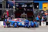 #81: Jeffrey Earnhardt, XCI Racing, Toyota Supra Comcast NBCUniversal Salute to Service pit stop