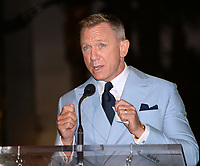 LOS ANGELES, CA. October 06, 2021: Daniel Craig on Hollywood Boulevard where he was honored with a star on the Hollywood Walk of Fame. <br /> Picture: Paul Smith/Featureflash