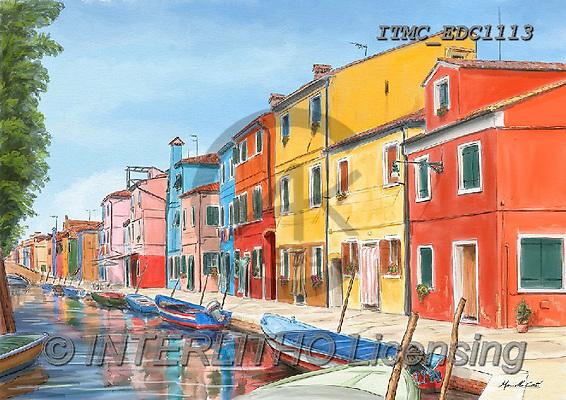 Marcello, LANDSCAPES, LANDSCHAFTEN, PAISAJES, paintings+++++,ITMCEDC1113,#L#, EVERYDAY