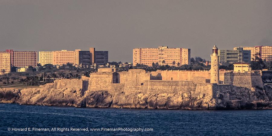 Morro Castle and apartment blocs at Havana harbor