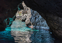 The Grotta Verde, green grotto, on the island of Capri, Campania, Italy
