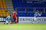 St Johnstone v Ross County...17.11.12      SPL.Iain Vigurs shot deflects off Liam Craig for Ross County's equaliser.Picture by Graeme Hart..Copyright Perthshire Picture Agency.Tel: 01738 623350  Mobile: 07990 594431