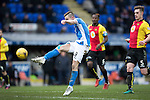 St Johnstone v Partick Thistle…11.02.17     Scottish Cup    McDiarmid Park<br />Steven MacLean shoots wide<br />Picture by Graeme Hart.<br />Copyright Perthshire Picture Agency<br />Tel: 01738 623350  Mobile: 07990 594431