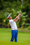 Players in action during the Mission Hills Celebrity Pro-Am on 25 October 2014, in Haikou, China. Photo by Xaume Olleros / Power Sport Images