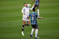 14th October 2020; Arena de Gremio, Porto Alegre, Brazil; Brazilian Serie A, Gremio versus Botafogo; Pedro Raul of Botafogo brings down the ball pon his chest