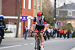Matteo Trentin (ITA) UAE Team Emirates attacks during the 2021 Brabantse Pijl running 201.7km from Leuven to Overijse, Belgium. 14th April 2021.  <br />