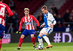 Raul Garcia Carnero, Raul C (R), of CD Leganes competes for the ball with Antoine Griezmann of Atletico de Madrid during the La Liga 2017-18 match between Atletico de Madrid and CD Leganes at Wanda Metropolitano on February 28 2018 in Madrid, Spain. Photo by Diego Souto / Power Sport Images