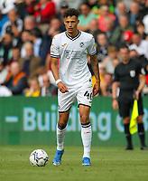 11th September 2021; Swansea.com Stadium, Swansea, Wales; EFL Championship football, Swansea versus Hull City; Rhys Williams of Swansea City brings the ball forward