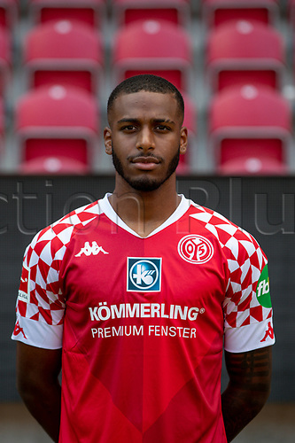 16th August 2020, Rheinland-Pfalz - Mainz, Germany: Official media day for FSC Mainz players and staff; Suliman Mustapha FSV Mainz 05