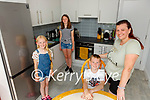 Stephanie Westall and her children Jessica, Markus and Isabella who are delighted to have moved into their new house in Lathair na Manach Rathmore on Friday