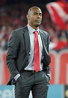 07 March 2012: The Toronto FC head coach Aron Winter walks onto the pitch and acknowledges the Toronto fans during a CONCACAF Champions League game between the LA Galaxy and Toronto FC at the Rogers Centre in Toronto..The game ended in a 2-2 draw.