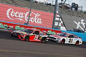 #19: Martin Truex Jr., Joe Gibbs Racing, Toyota Camry Bass Pro Shops, #21: Matt DiBenedetto, Wood Brothers Racing, Ford Mustang Motorcraft/Quick Lane