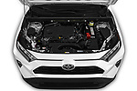 Car stock 2019 Toyota RAV4 XLE Premium 5 Door SUV engine high angle detail view