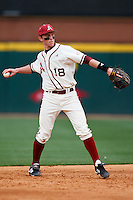 Tim Carver (18);March 10th, 2010; South Dakata State University vs Arkansas Razorbacks at Baum Stadium in Fayetteville Arkansas. Photo by: William Purnell/Four Seam Images