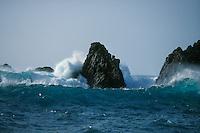 Volcanic rock shoreline on South West  of La Palma, Canary Islands