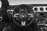 Car pictures of steering wheel view of a 2017 Ford Mustang GT Premium 2 Door Coupe