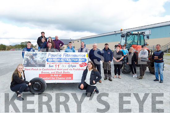 Launching the Paudie Fitzmaurice Tractor Run in Castleisland on Saturday, which is going ahead on Sunday 11th October