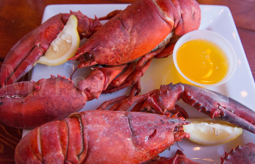 Portland Maine lobster dinner at famous Gilbert's Chowder House restaurant specialty