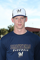Nash Walters (53) of the AZL Brewers poses for a photo before a game against the AZL Reds at the Cincinnati Reds Spring Training Complex on July 5, 2015 in Goodyear, Arizona. Reds defeated Brewers, 9-4. (Larry Goren/Four Seam Images)