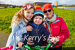 Enjoying a stroll in the Tralee Bay Wetlands on Tuesday, l to r: Ava and Oscar Hand and Sandra O'Callaghan.