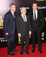 """NEW YORK, NY - FEBRUARY 04: George Clooney, Bob Balaban, Jean Dujardin at the New York Premiere Of Columbia Pictures' """"The Monuments Men"""" held at Ziegfeld Theater on February 4, 2014 in New York City, New York. (Photo by Jeffery Duran/Celebrity Monitor)"""