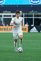 FOXBOROUGH, MA - MAY 1: Emerson Hyndman #20 Midfielder of Atlanta United FC during a game between Atlanta United FC and New England Revolution at Gillette Stadium on May 1, 2021 in Foxborough, Massachusetts.